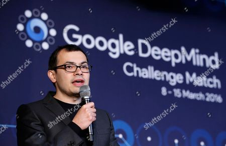 Demis Hassabis Google DeepMind CEO Demis Hassabis answers a reporter's question during a press conference after finishing the final match of the Google DeepMind Challenge Match against Google's artificial intelligence program, AlphaGo, in Seoul, South Korea, . Google's Go-playing computer program again defeated its human opponent in a final match on Tuesday that sealed its 4:1 victory