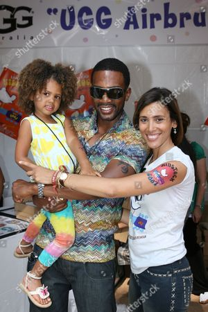 Bill Bellamy, Kristen Bellamy and daughter Bailey