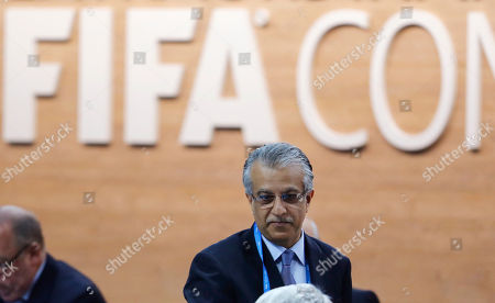 FIFA presidential candidate Sheikh Salman bin Ibrahim al-Khalifa of Bahrain arrives for the extraordinary FIFA congress in Zurich, Switzerland, . Delegates of the soccer body FIFA meet to elect a new president