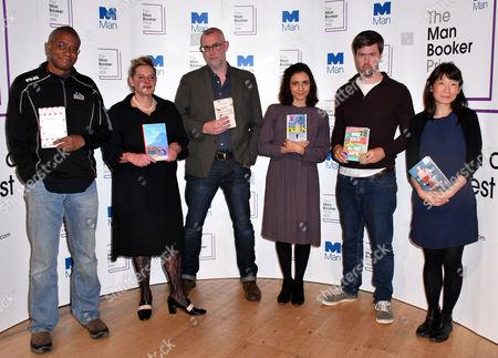 Paul Beatty, Deborah Levy, Graeme Macrae Burnet, Ottessa Moshfegh, David Szalay, Madeleine Thien