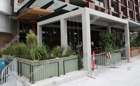 The fenced off site for a new popup restaurant Noma Australia in Sydney, Australia, . Danish chef Rene Redzepi will open Noma Australia at Barangaroo on Australia Day 2016 and run for 10 weeks with all 5500 seats pre sold at a cost of $485 per person