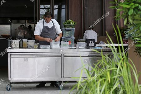 Staff prepare food for opening day at the site for a new popup restaurant Noma Australia in Sydney, Australia, . Danish chef Rene Redzepi will open Noma Australia at Barangaroo on Australia Day 2016 and run for 10 weeks with all 5500 seats pre sold at a cost of $485 per person