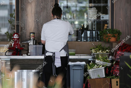 Staff prepare food at the site for new popup restaurant Noma Australia in Sydney, Australia, . Danish chef Rene Redzepi will open Noma Australia at Barangaroo on Australia Day 2016 and run for 10 weeks with all 5500 seats pre sold at a cost of $485 per person