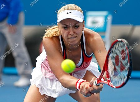 Sabine Lisicki Sabine Lisicki of Germany makes a backhand return to Petra Cetkovska of the Czech Republic during their first round match at the Australian Open tennis championships in Melbourne, Australia