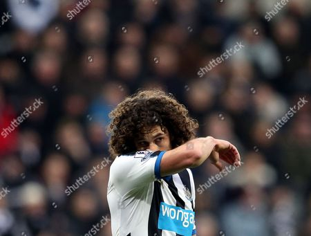 Newcastle United's captain Fabricio Coloccini during the English Premier League soccer match between Newcastle United and West Ham United at St James' Park, Newcastle, England