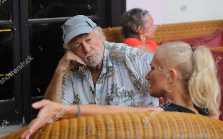 "Stock Picture of Actors from the Hollywood movie ""Papa,"" Adrian Sparks, top, and Joely Richardson, sit in the Nacional Hotel after a press conference promoting their film in Havana, Cuba, . Sparks plays the role of Hemingway and Richardson the role of his wife Mary in the first Hollywood feature film shot in Cuba in 45 years"