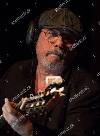 "Stock Image of Cuban singer and composer Silvio Rodriguez records his latest album ""Amorios"" in Havana, Cuba, late"