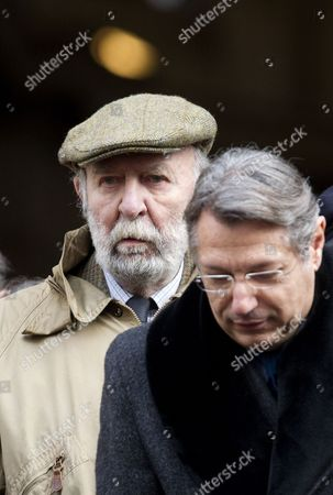 Stock Image of French actor Jean-Pierre Marielle attends the funerals of French actor Michel Galabru in Paris