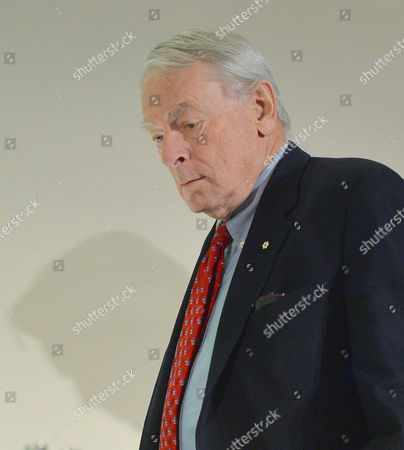 Canadian Richard Pound, Chairman of WADA's (World Anti-Doping Agency) Independent Commission (IC), is on his way to a press conference where he presents the findings of his Commission's Report surrounding allegations of doping in sport, during a press conference in Munich, Germany, on