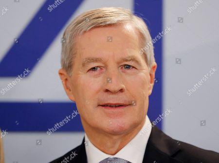 CEO of Deutsche Bank Juergen Fitschen at the annual press conference in Frankfurt, Germany
