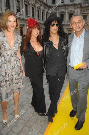 Trinny Woodall, Perla Ferrar, Slash and Johnny Elichaoff