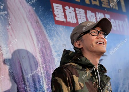 """Stephen Chow Hong Kong director Stephen Chow poses for photographers during a promotional event for his new film """"Mermaid"""" in Hong Kong"""
