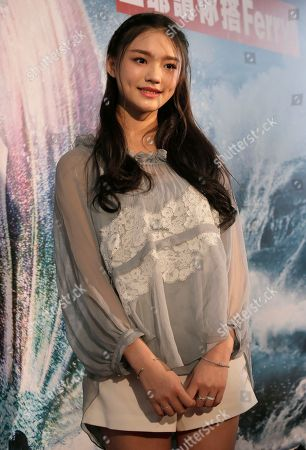 """Lin Yun Chinese actress Lin Yun poses for photographers during a promotional event for her new film """"Mermaid"""" in Hong Kong"""