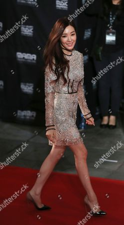 Seohyun, Tiffany South Korean singer Tiffany walks on the red carpet of the 2015 Mnet Asian Music Awards (MAMA) in Hong Kong