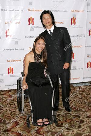 Angela Rockwood and Dustin Nguyen