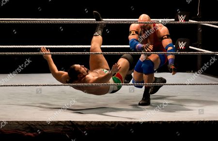Ryback, Alexander Rusev WWE wrestler Ryback, right, throws down Alexander Rusev during WWE Live India Tour, in New Delhi, . WWE returned to Indian after a gap of 13 years to entertain their fans