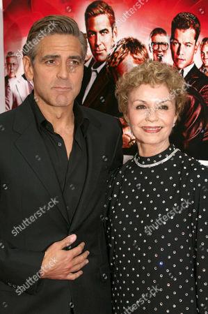 George Clooney and mother Nina Warren
