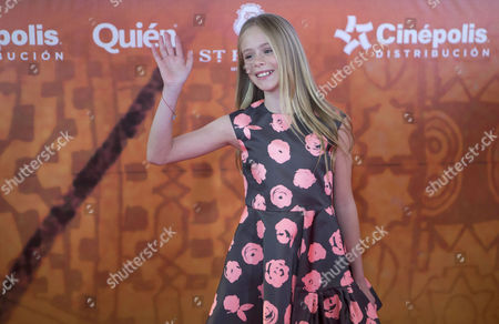 "Loreto Peralta Mexican child actress Loreto Peralta poses for pictures on the red carpet, promoting his new movie ""The Prophet,"" in Mexico City, . Mexican actress and producer Salma Hayek produced and voices a character in the animated film adaptation of Lebanese writer Kahlil Gibran's 1923 book of prose poetry"