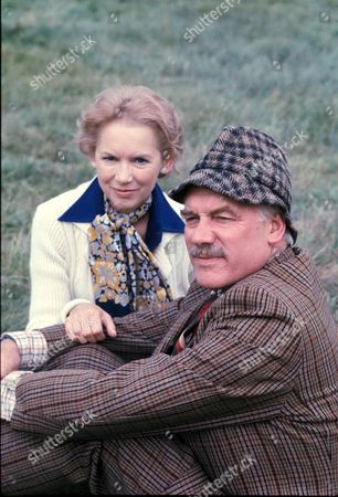 'Emmerdale'  TV - 1976 - Kilnsey Show Janet Thompson [Muriel Pavlow] and Mr Wilks [ Arthur Pentelow]