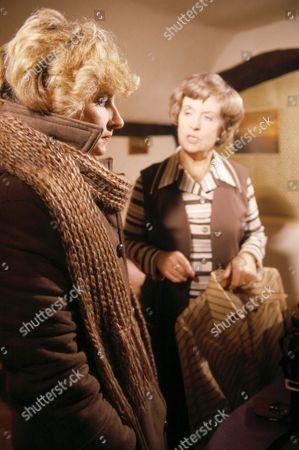 'Emmerdale'  TV - 1978 - Dolly Acaster [Katharine Barker] and Phyllis Acaster [Jean Heywood]