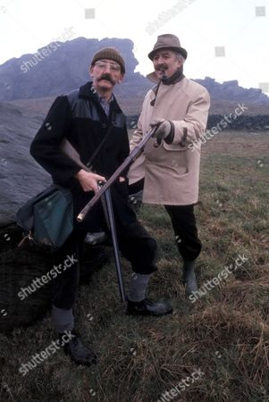 'Emmerdale'  TV - 1979 - Maurice Westrop [Edward Dentith][Right] and Seth Armstrong [Stan Richards]