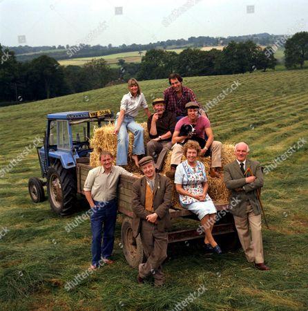'Emmerdale'  TV - 1980 Back Row: Ronald Magill, Andrew Burt,Frazer Hines. Front: Frederick Pyne, Toke Townley, Sheila Mercier and Arthur Pentelow.