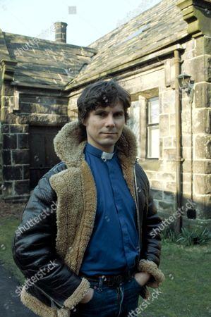 'Emmerdale'  TV - 1981 - The new curate Bill Jeffries [James Aubrey]