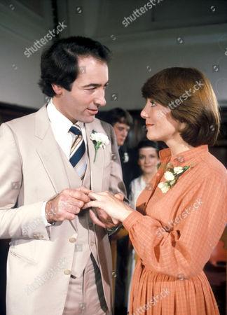 'Emmerdale'  TV - 1982 -  The wedding of Jack Sugden [Clive Hornby] and Pat Merrick [Helen Weir]