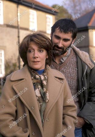 'Emmerdale'  TV - 1982 - Pat Merrick [Helen Weir] and Tom Merrick [Edward Peel]
