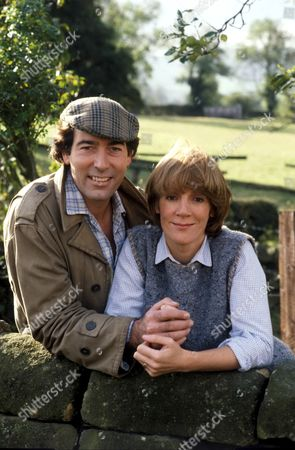Stock Photo of 'Emmerdale'  TV - 1984 Andrew Burt and Pat Weir