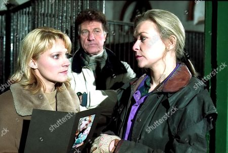 'Emmerdale'  TV - 1997 - Kathy Glover [Malandra Burrows]Frank Tate [Norman Bowler]