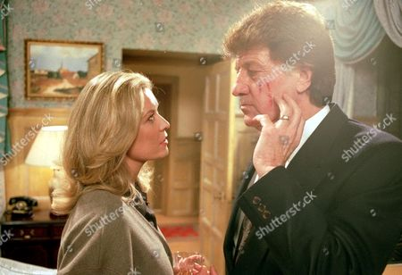 'Emmerdale'  TV - 1997 - Kim Tate [Claire King]Frank Tate [Norman Bowler]