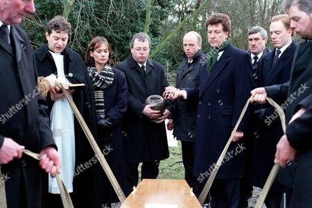 'Emmerdale'  TV - 1997 - Kim Tate's Funeral,  Frank Tate [Norman Bowler]