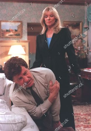 Stock Picture of 'Emmerdale'  TV - 1997 - Kim Tate [Claire King] Frank Tate [Norman Bowler]