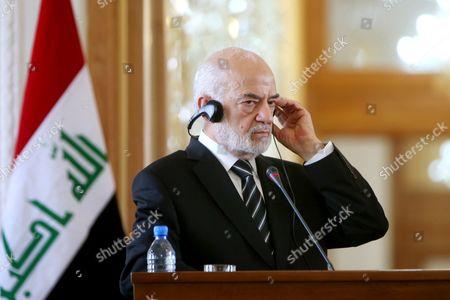 Ibrahim al-Jafari Iraqi Foreign Minister Ibrahim al-Jafari listens to translation of a question during a press conference with his Iranian counterpart Mohammad Javad Zarif, in Tehran, Iran