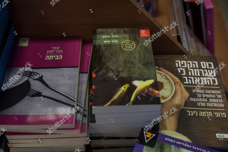 "The book ""Borderlife"" by Dorit Rabinyan, center, is on display at a bookstore in Ashkelon, Israel, . Israel's Education Ministry has rejected a request by teachers to include the novel about a love affair between a Jewish woman and a Palestinian man in the high school curriculum, reportedly over concerns that it could encourage intermarriage between Jews and non-Jews"