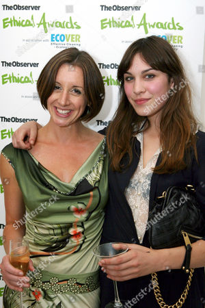 Alexa Chung and Observer Ethical Journalist and the evening's host Lucy Siegle