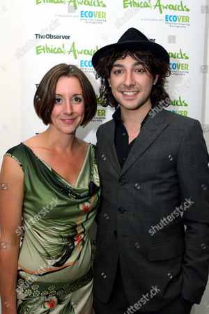 Alex Zane and Observer Ethical Journalist and the evening's host Lucy Siegle