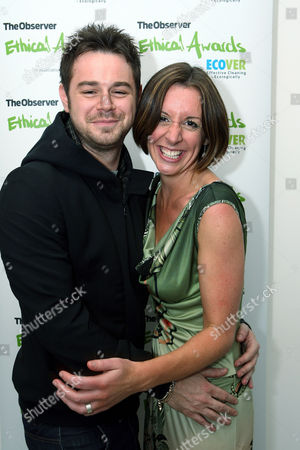 Danny Dyer and Observer Ethical Journalist and the evening's host Lucy Siegle