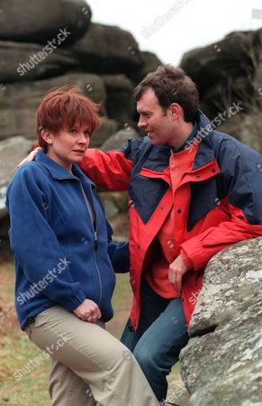 'Emmerdale'  TV - 1999 -  Graham (KEVIN PALLISTER) and Rachel's (GLENDA McKAY) picnic doesn't go quite according to plan.