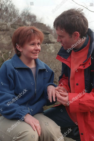 'Emmerdale'  TV - 1999 - Graham (KEVIN PALLISTER) takes Rachel (GLENDA McKAY) on a picnic to propose to her but things don't go quite according to plan.