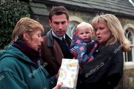 'Emmerdale'  TV - 1998  Roberta Kerr, Paul Opacic and Claire King