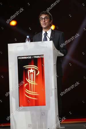 Canadian director Atom Egoyan speaks at the Tribute to Canadian Cinema at the 15th Marrakech International Film Festival in Marrakech, Morocco