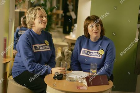 Michelle Holmes and Caroline Quentin in 'Life Begins' - 2006