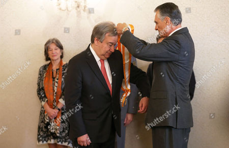 Antonio Guterres, Anibal Cavaco Silva Antonio Guterres, former UN High Commissioner for Refugees, is decorated by Portuguese President Anibal Cavaco Silva, right, with the Great Cross of the Order of Liberty . The Portuguese government has proposed Guterres as a candidate to replace Ban Ki-moon as next UN Secretary General