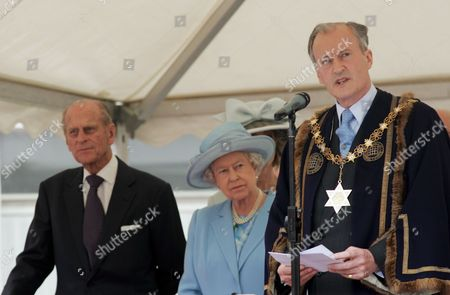 Prince Philip, Queen Elizabeth II and Lord Braybourne