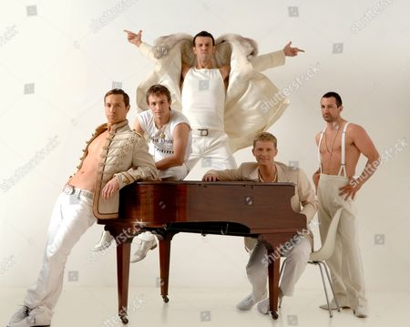 'Take That - The Musical', Eaton James ('Harry' who is Howard Donald in the band), Tim Driesen ('Adrian', who is Mark Owen), Craige Els ('Jake', who plays Robbie Williams), Dean Chisnall (plays 'Ash Sherwood', who is Gary Barlow in the tribute band), Stephane Anelli ('Jose' in the show, who is Jason Orange)