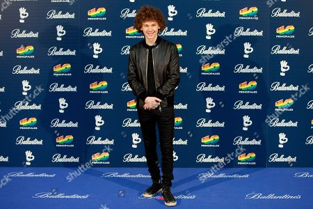 Francesco Yates Canadian singer Francesco Yates poses for photographers during the photocall of '40 Principales Awards' in Madrid, Spain, on