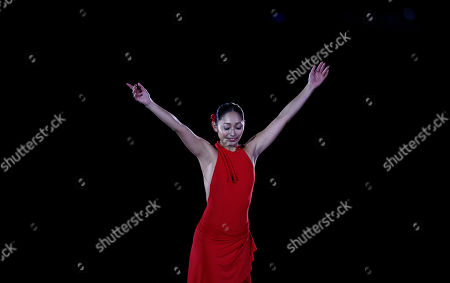 Miki Ando Miki Ando from Japan performs during the exhibition show at the Grand Prix Final figure skating competition in Barcelona, Spain