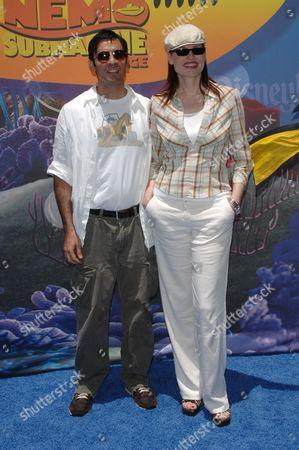 Geena Davis and husband Dr. Reza Jarrahy